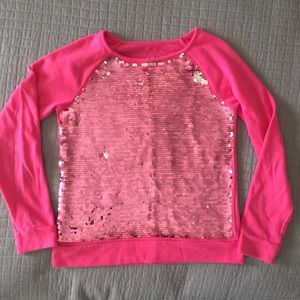 Justice brand pullover w sequins, size 14